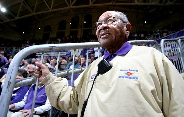 Photo by Rod Mar / The Seattle Times | George Hickman was an avid sports fan and an usher at UW's Hec Edmundson Pavilion, among other Seattle sports locales