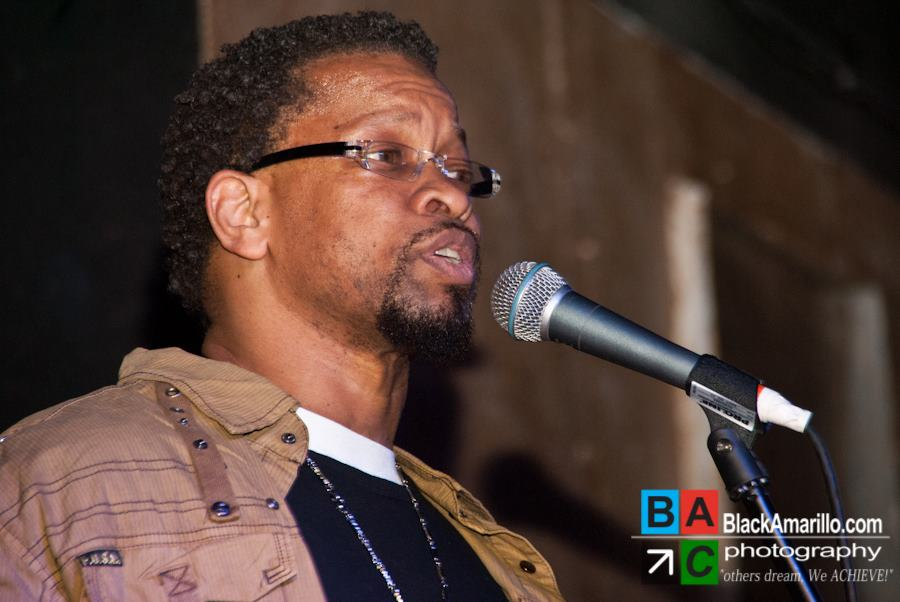 "Charles W. Williams preforming at  the ""Laughs & Lyrics Comedy & Poetry Showcase"" (Jan. 28, 2012)"