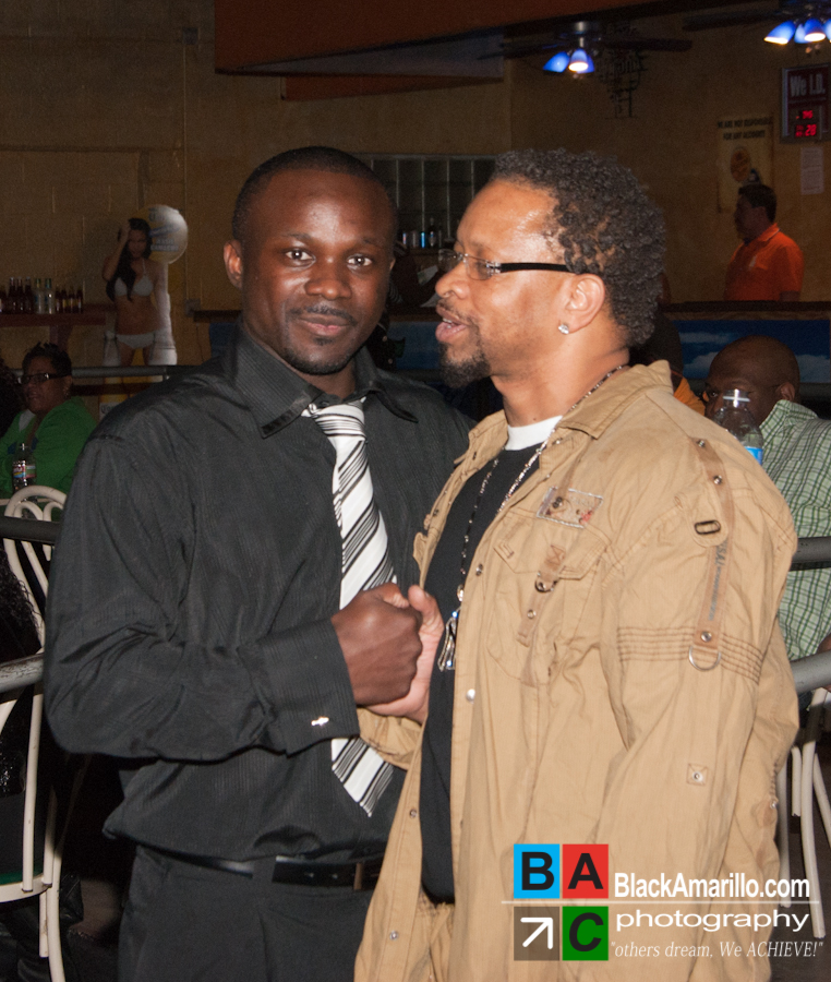 Charles Williams (right) with  Kings Nation event promoter Ricky Malone, Jr.
