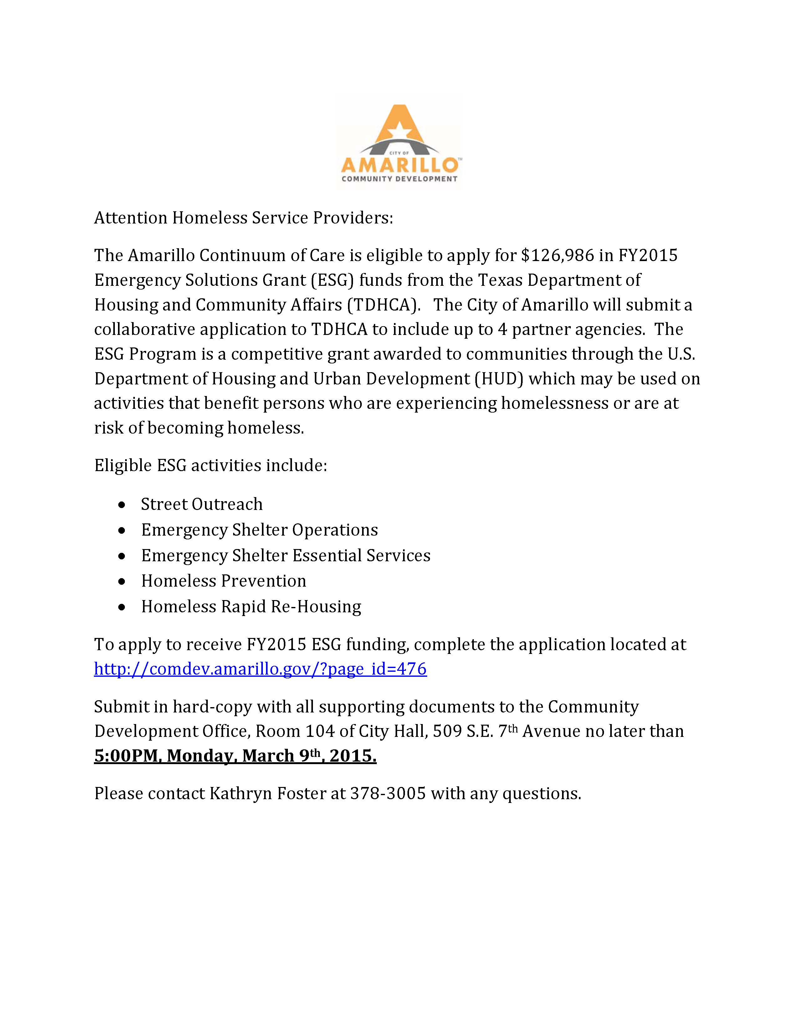Attention Homeless Service Providers