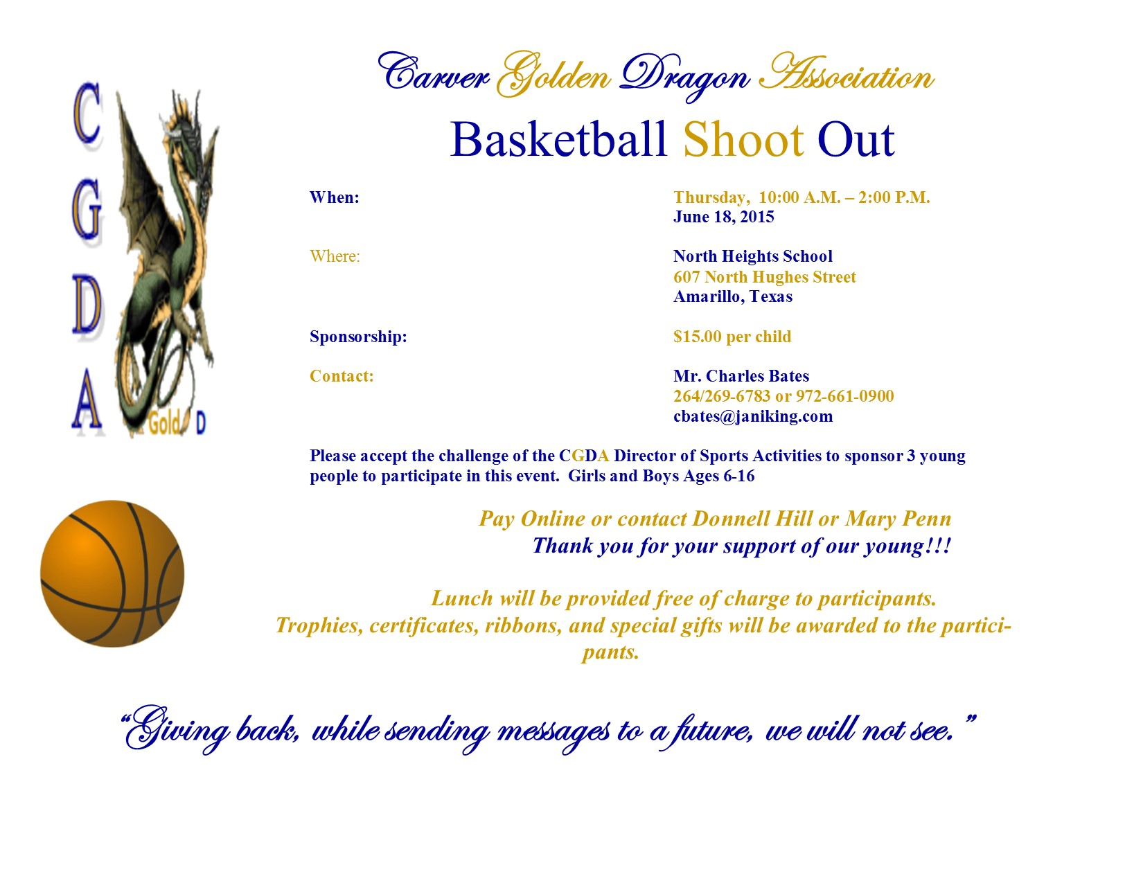 CGDA Basketball Shoot Out Flyer 2015 Dexter (1)