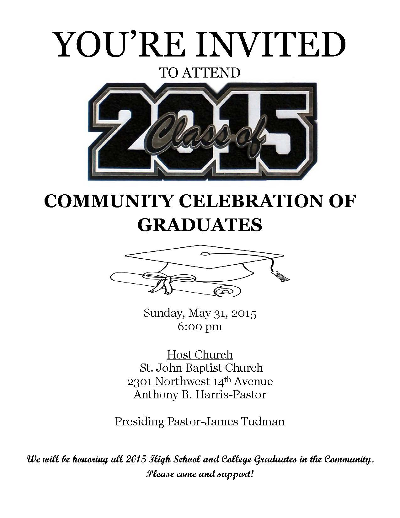 Community 2015 Graduation Flyer