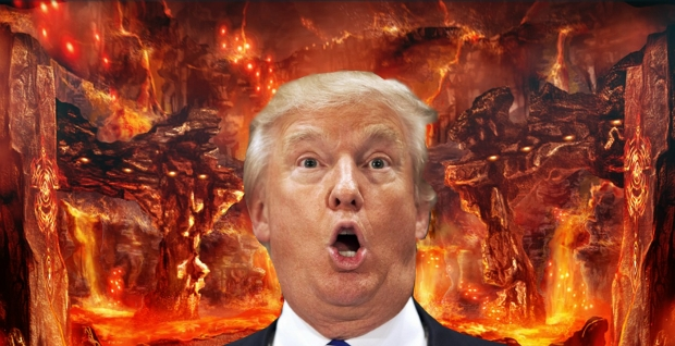 Image result for Trump in hell